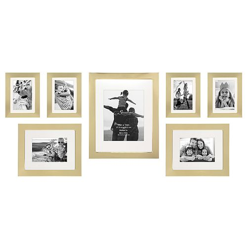 Stonebriar Collection Decorative Gold 7-Piece Photo Frame Set