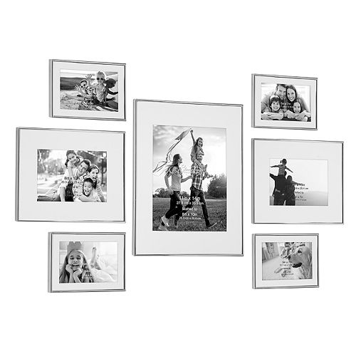 Stonebriar Collection Decorative Silver Steel 7-Piece Photo Frame Set