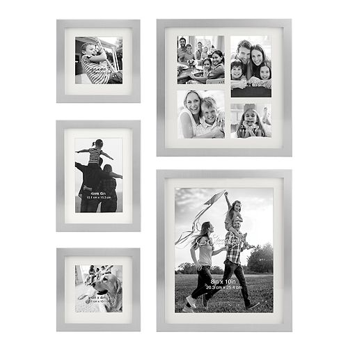 Stonebriar Collection Decorative Silver 5-Piece Photo Frame Set