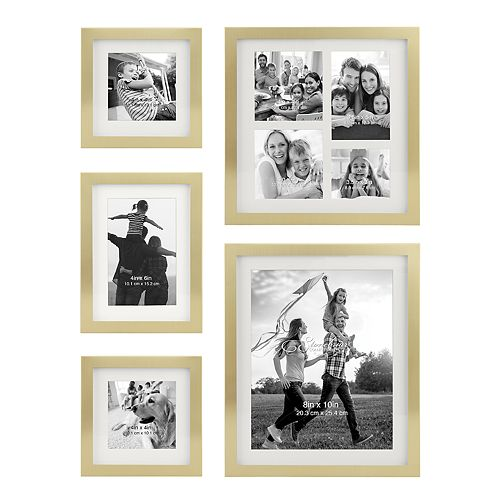 Stonebriar Collection Decorative Gold 5-Piece Photo Frame Set