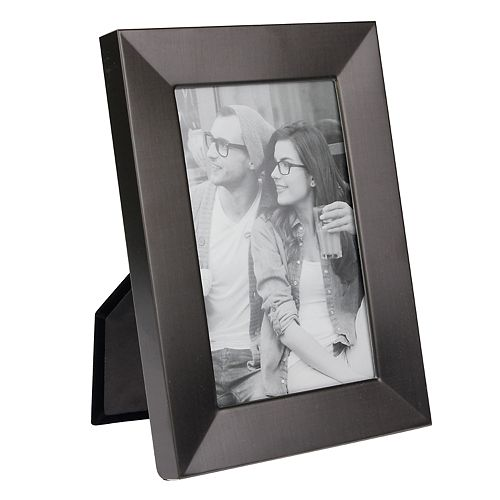 Stonebriar Collection Decorative Matte Dark Pewter Metal Photo Frame