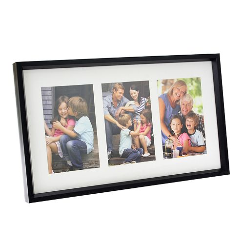 "Stonebriar Collection Decorative Black Collage Frame w/ Three 4"" x 6"" Openings"