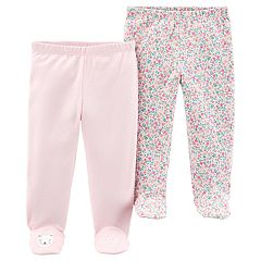 Baby Girl Carter's 2 Pack Floral Footed Pants