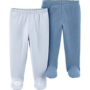 Baby Boy Carter's 2 Pack Striped Footed Pants