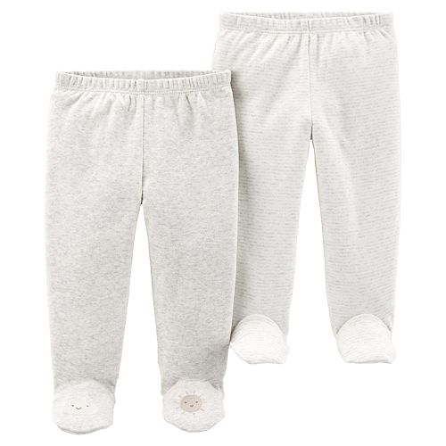 Baby Carter's 2 Pack Cloud & Sun Footed Pants