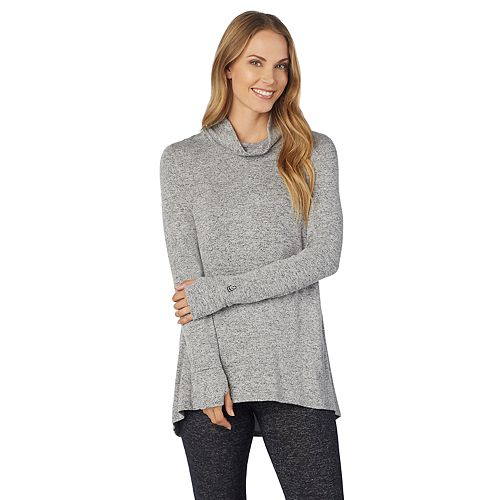 Women's Cuddl Duds Soft Knit Long Sleeve Cowl Neck Top
