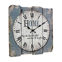 Stonebriar Square 15' Rustic Farmhouse Worn Wall Clock