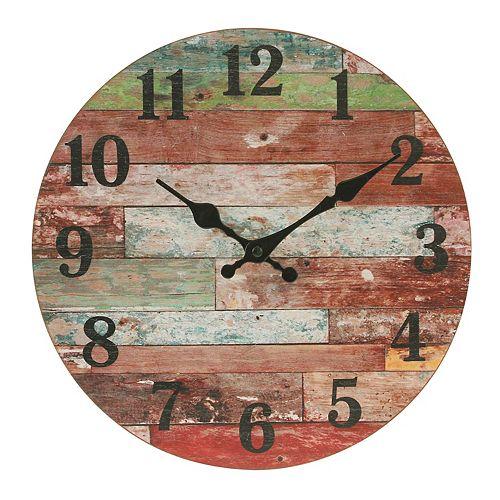Stonebriar Vintage Farmhouse Wooden Wall Clock