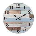 Stonebriar Vintage Coastal Blue Wall Clock