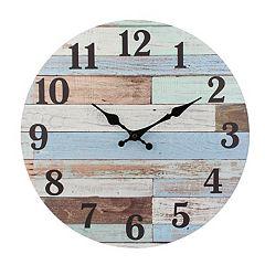 23ad1c23dc34 Stonebriar Vintage Coastal Blue Wall Clock