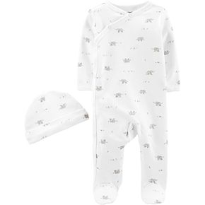 Baby Carter's Elephant Kimono Sleep & Play with Hat