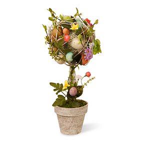 National Tree Company Artificial Garden Accents Easter Egg Topiary Floor Decor
