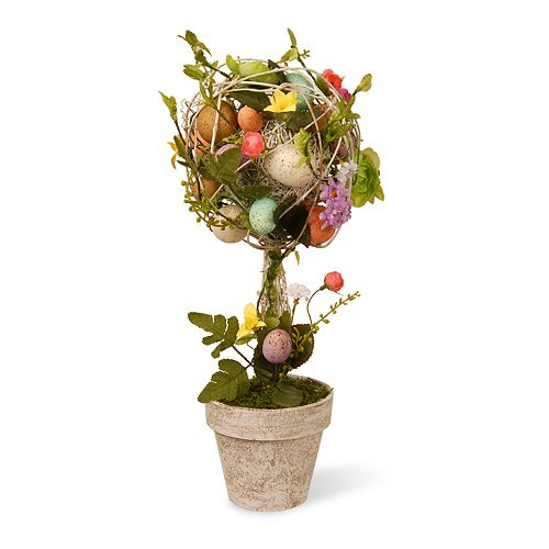 National Tree Company Artificial Garden Accents Easter Egg Topiary Floor Decor