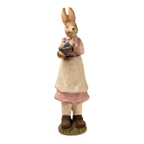 "National Tree Company 22"" Springtime Rabbit Statue Table Decor"