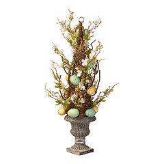 National Tree Company Artificial Potted Easter Tree Floor Decor