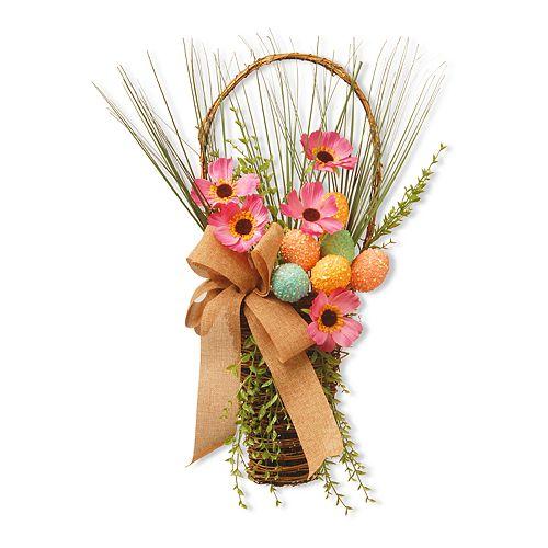National Tree Company Easter Basket Wall Decor
