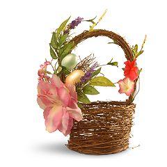 National Tree Company Decorative Basket Table Decor
