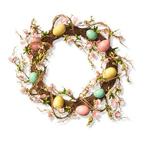 National Tree Company Artificial Easter Egg Wreath