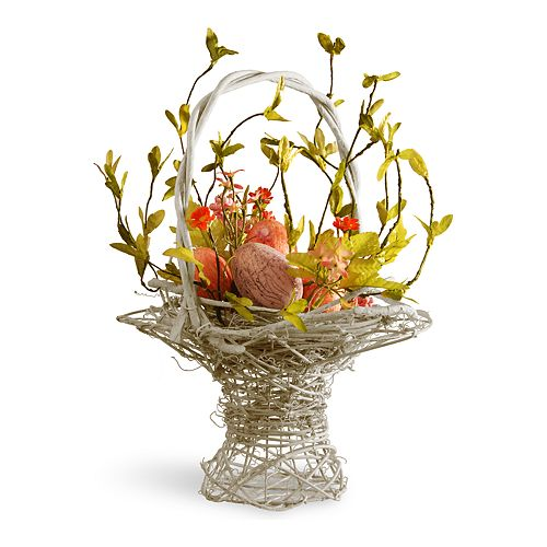 National Tree Company Decorative Easter Basket Table Decor