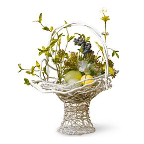 National Tree Company Artificial Decorated Easter Basket Table Decor