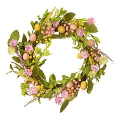 National Tree Company 22' Artificial Easter Egg Wreath