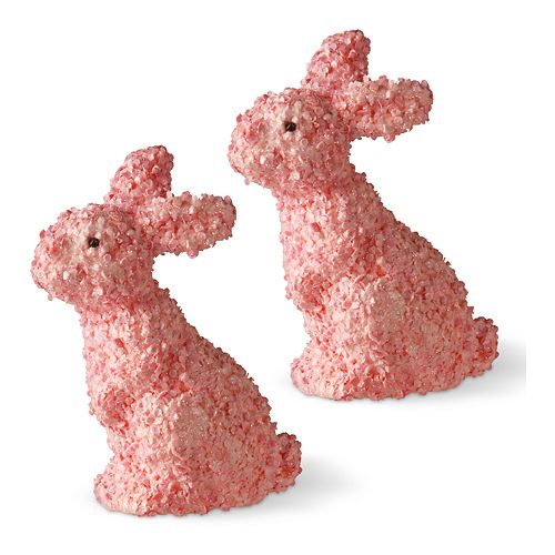 National Tree Company Pink Bunny Table Decor 2-piece Set