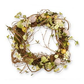 """National Tree Company 18"""" Artificial Easter Eggs Wreath"""
