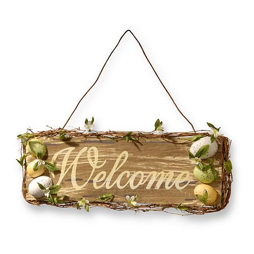National Tree Company Easter Welcome Sign