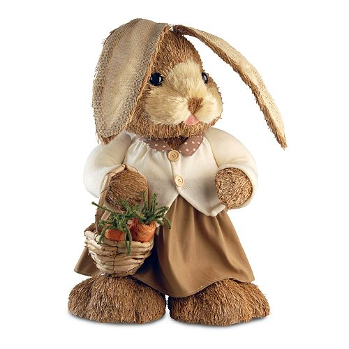 National Tree Company Floppy Ear Artificial Brown Bunny Floor Decor