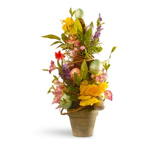 National Tree Company Artificial Decorated Easter Pot Floor Decor