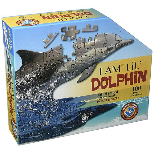 Madd Capp Puzzle Jr. - I Am Dolphin 100 Piece Puzzle