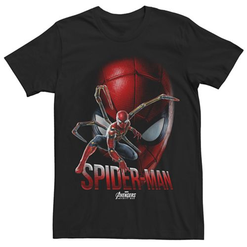 Men's Spider-Man Suit Face Tee