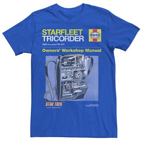 Men's Star Trek: TheOriginal Series Tricorder Manual Tee