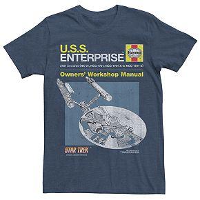 Men's Star Trek: The Original Series USS Enterprise Manual Tee