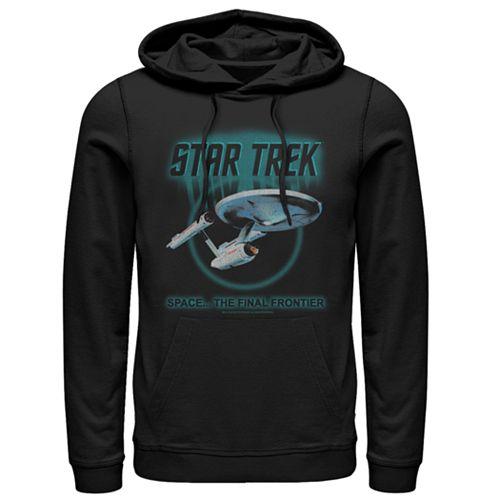 Men's Star Trek: TheOriginal Series Enterprise Quote Hooded Pull Over