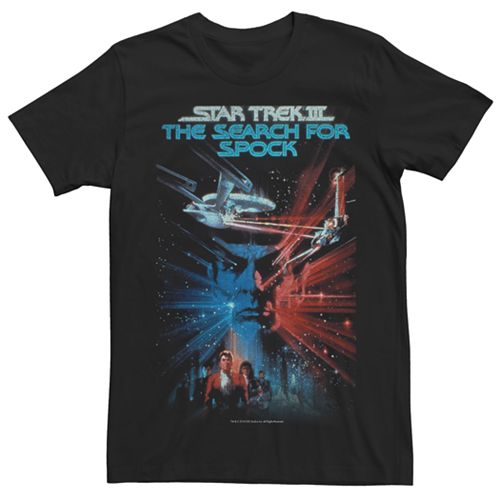 Men's Star TrekIII: TheSearch forSpock Poster Tee