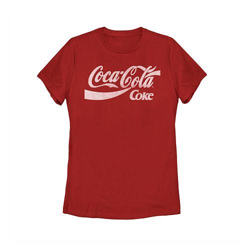 Juniors' Coca-Cola Graphic Tee