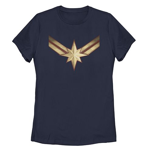 Juniors' Captain Marvel Star Logo Graphic Tee