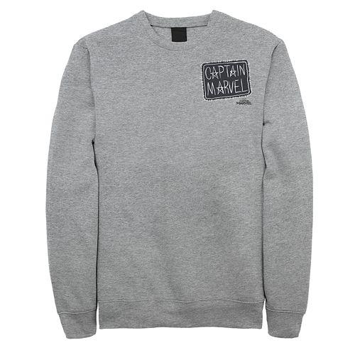 Juniors' Captain Marvel Stitched Patch Fleece Sweatshirt