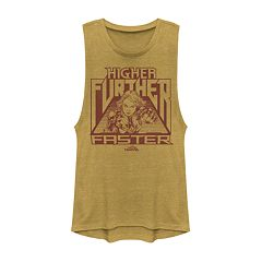 2e9e430597b08 Juniors  Captain Marvel  Higher Further Faster  Graphic Tank Top