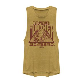 """Juniors' Captain Marvel """"Higher Further Faster"""" Graphic Tank Top"""