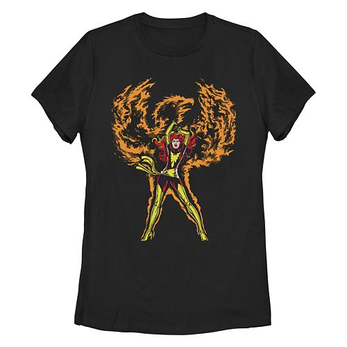 Juniors' Marvel Retro Phoenix Rises Graphic Tee