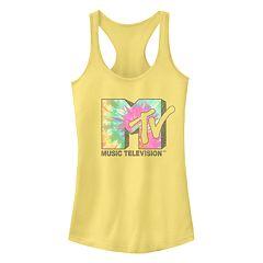 333fd2a150266 Juniors  MTV Tie Dye Logo Racerback Tank Top