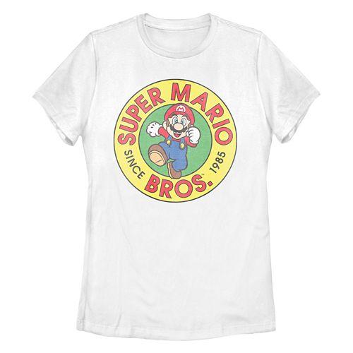 Juniors' Super Mario Bros Graphic Tee