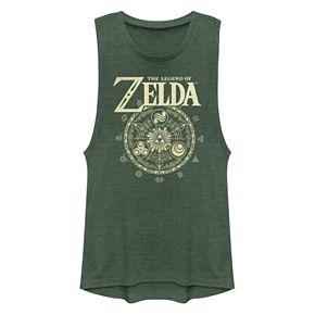 Juniors' Legend Of Zelda Triforce Muscle Tank