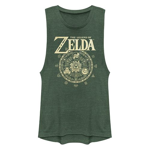Juniors' Legend Of Zelda Triforce Muscle Tank