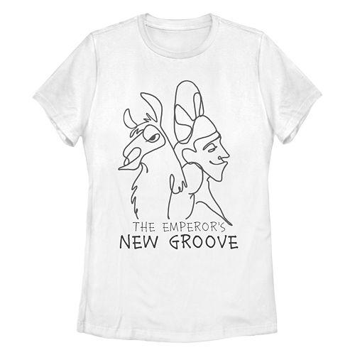 Juniors' Disney's Emperor's New Grove Kuzco & Llama Graphic Tee