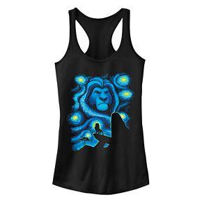 Juniors' Disney's The Lion King Starry Night Mufasa Graphic Tank