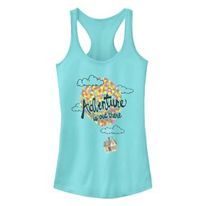 "Juniors' Disney Pixar Up ""Adventure Is Out There"" Racerback Tank"