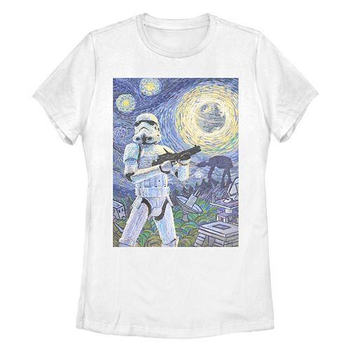 Juniors' Disney Star Wars Stormtrooper Starry Night Tee